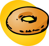 Plain donut Royalty Free Stock Images