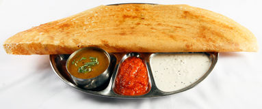 Plain dosa Stock Photo