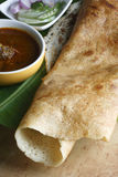 Plain Dosa - A pancake from South India Stock Image