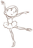 A plain drawing of a ballerina Royalty Free Stock Image