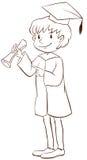 A plain drawing of a boy graduating Stock Photos