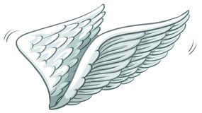 A plain drawing of wings Stock Photos