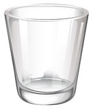 A plain drinking glass Royalty Free Stock Images