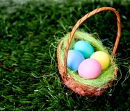 Plain Easter Eggs Stock Photography