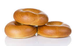 Plain Or Egg Bagel Trio Stock Photos