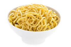 Plain egg noodles Stock Photo