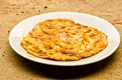 Plain egg omelette Royalty Free Stock Photography
