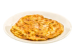 Plain egg omelette Stock Images