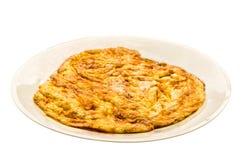 Plain egg omelette Stock Images