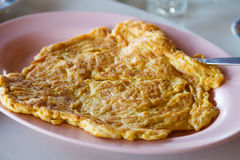 Plain egg omelette Royalty Free Stock Images