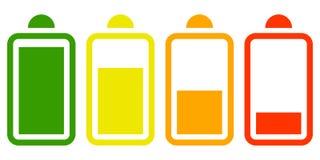 Plain electric battery icon on white background royalty free illustration