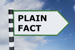 Plain Fact concept Stock Image