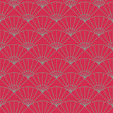 Plain fan pattern. Based on Traditional Japanese Embroidery. Stock Photo