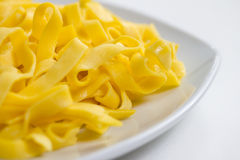 Plain fettucelle pasta Royalty Free Stock Photos