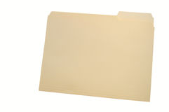 Plain folder. Plain yellow folder isolated on white with clipping path Royalty Free Stock Photo