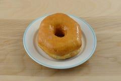 Plain glazed donut Stock Photography