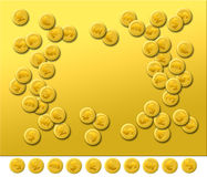 Plain Gold 2. A graphic images with blank area for design introduction, represents finance hinting on stock market trade in gold and currency, excreta Royalty Free Stock Photo