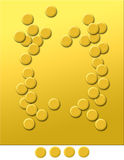 Plain Gold 5. A graphic image representing gold & gold colour, with blank areas for design introduction. Subject hints on finance, stock market, trade in gold Stock Photos