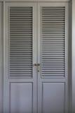 Gray wardrobe door panels Stock Photo
