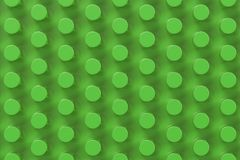 Plain green surface with cylinders. Abstract background. 3D rendering illustration Stock Images