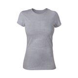 Plain Grey Woman Shirt Stock Photo