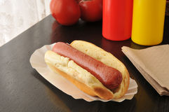 Plain hot dog Stock Photography