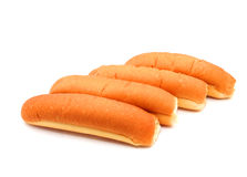 Plain hotdog buns Royalty Free Stock Photos