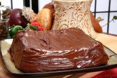 Plain Iced Chocolate Cake royalty free stock photos