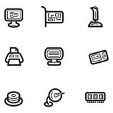 Plain Icon Series - Computers stock illustration