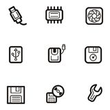 Plain Icon Series - Computers Stock Photography