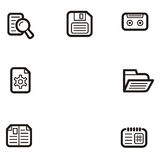 Plain Icon Series - Media Royalty Free Stock Images