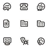 Plain Icon Series - Web. A set of nine web and Internet icons Royalty Free Stock Images