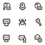 Plain Icon Series - Web. A set of nine web and Internet icons Stock Image