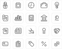 Plain icon set: Business Royalty Free Stock Image