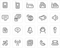 Plain Icon Set: Communication Royalty Free Stock Photos