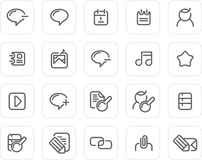Plain icon set: Internet and Blog Stock Image