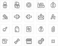 Plain icon set: Website and Internet 2 Royalty Free Stock Images
