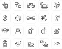 Plain icon set: Wireless and Technology Royalty Free Stock Photography