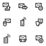 Plain Icons - Communications Stock Photography