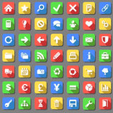 Plain icons set Stock Photography