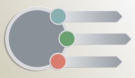 Plain Infographic elements Stock Photos