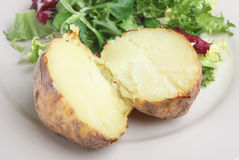 Plain Jacket Potato Stock Image