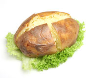 Plain Jacket Potato Stock Photo