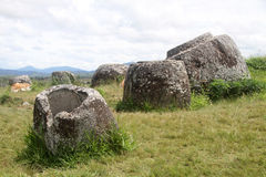 Plain of jars Stock Photo