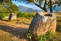 The Plain of jars. Laos Royalty Free Stock Photo