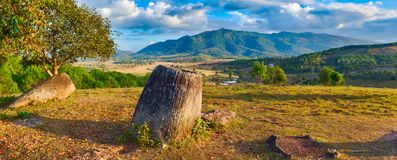 The Plain of jars. Laos Royalty Free Stock Photography
