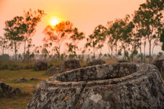 Plain of jars, Laos Stock Photo