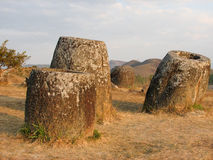 Plain of jars, laos Royalty Free Stock Image