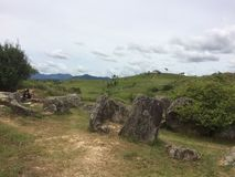Plain of Jars, Laos. One of the Plain of Jars sites in Laos Royalty Free Stock Photo