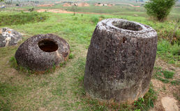 Plain of Jars in Phonsavan, Laos. Royalty Free Stock Images